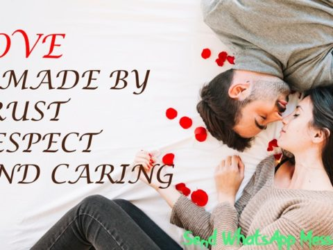 Love is made by Trust, Respect & Caring